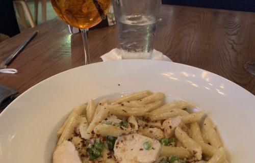 Build your own pasta & spritz - Mia Bella Trattoria near Alexan River Oaks - pic by Chelsea W. on Yelp