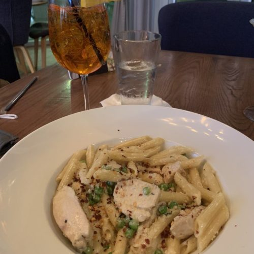 Build your own pasta & spritz - Mia Bella Trattoria near Alexan River Oaks - pic by Chelsea W. on Yelp
